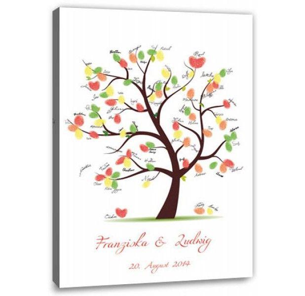 Fingerabdruck Baum - Hochzeitsbaum Fingerabdruck Gäste