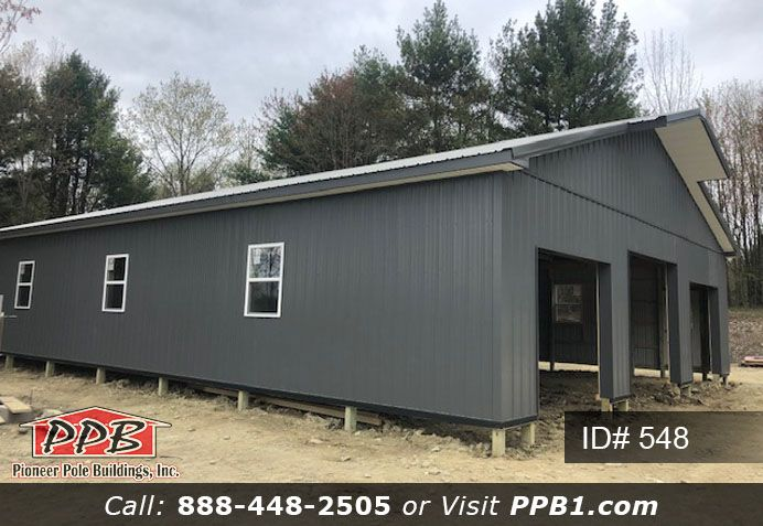 40 W X 60 L X 10 5 H Id 548 Approximate Cost 28 950 Pioneer Pole Buildings Pole Buildings Garage Door Framing Roof Colors