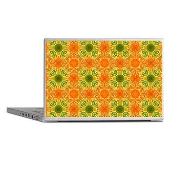 pattern Orange Laptop Skins