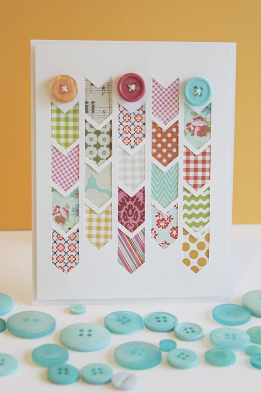 Becky Oehlers: Nice Colour, Cute Cards, Beautiful Cards, Washi Tape Cards, Colour Charts, Scrapbook Paper, Chevron Arrows, Buttons Cards, Arrows Cut
