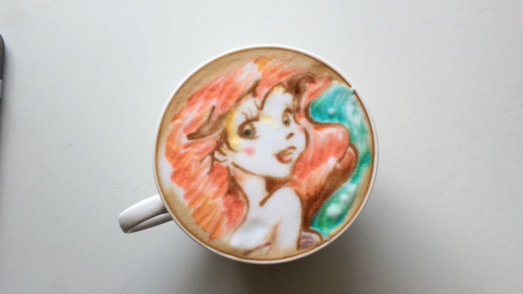 You'll Want to Make This Little Mermaid-Inspired Latte Part of Your World: Disney and coffee fans, prepare to lose your minds over this incredible The Little Mermaid-inspired latte.