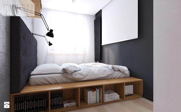 mieszkanie w Knurowie - Sypialnia, styl nowoczesny - zdjęcie od Spacja Studio
