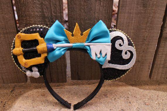 Kingdom Hearts Mickey Ears | Keyblade Key Sword Mouse Ear Headband with Bow | Modern Mouse Boutique | Mod Mouse Inc
