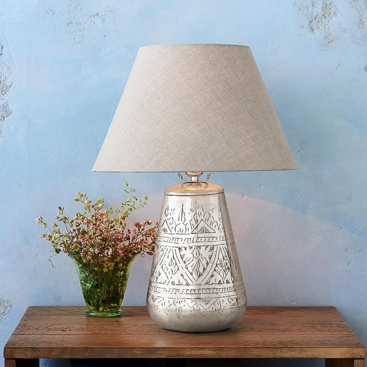 78 best lamps images on pinterest blue table lamp buffet lamps tracery etched lamp a linen shade sets up sophisticated counterpoint on our mozeypictures Image collections
