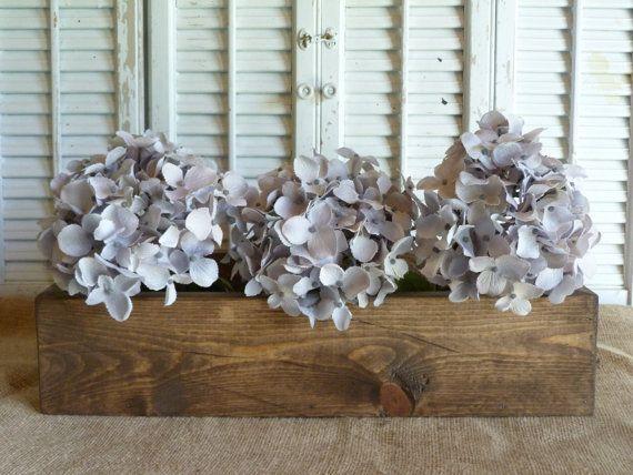 Check out Rectangular Box, Wooden Box, Storage Box, Cottage Chic Decor, Wedding Decor, Wooden Planter Box on rusticprairiecottage