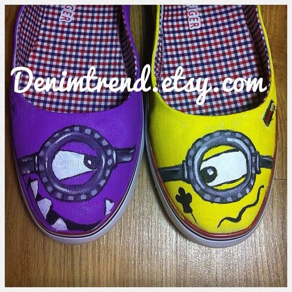 Minions Custom Shoes by denimtrend on Etsy, $89.00