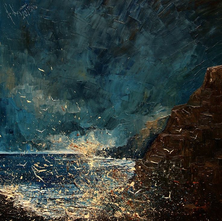 "wordsnquotes: "" culturenlifestyle: "" Exquisite Abstract Seascapes by Justyna Kopania Polish painter Justyna Kopania composes stunning brooding seascapes of the sea and vintage ships sailing across the..."