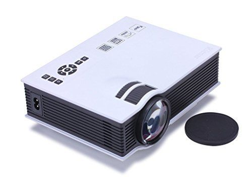 PowerLead Gypo UC40 Pro Mini Portable LCD LED Home Theater Cinema Projector,Business projector, HD 1080P IP/IR/USB/SD/HDMIAccessed by Android Apple TV U disk-White