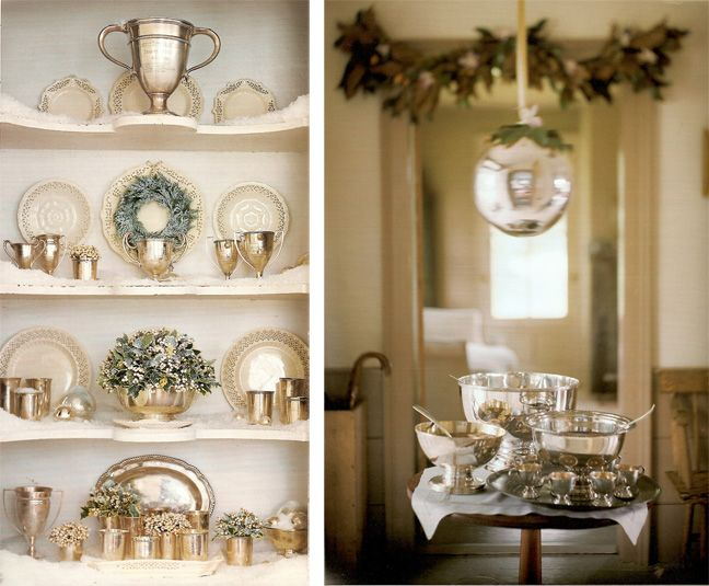 Can't get enough silver and white at the holidays. These punch bowls are FAB!