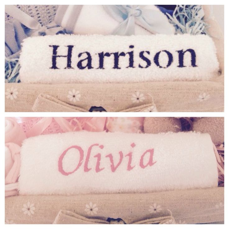 Image of Personalised Baby Name Flannel/Face Cloth
