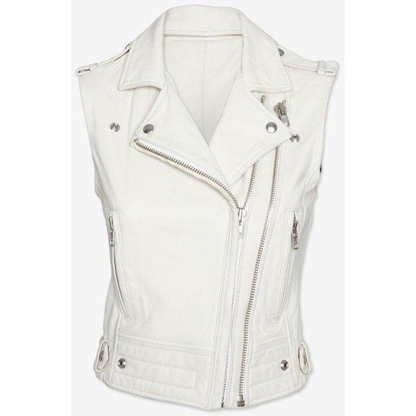 Shop for cheap MEN'S LEATHER VEST, MEN WHITE BIKER JACKET women,... ❤ liked on Polyvore featuring men's fashion, men's clothing, men's outerwear, men's vests, mens vest, mens vest outerwear, mens white vest, mens leather vest and mens moto jacket