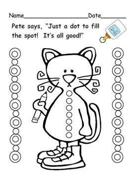 Pete the Cat glue practice