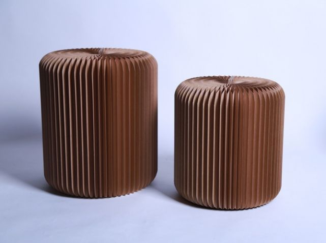 Tabouret pliant carton stooly