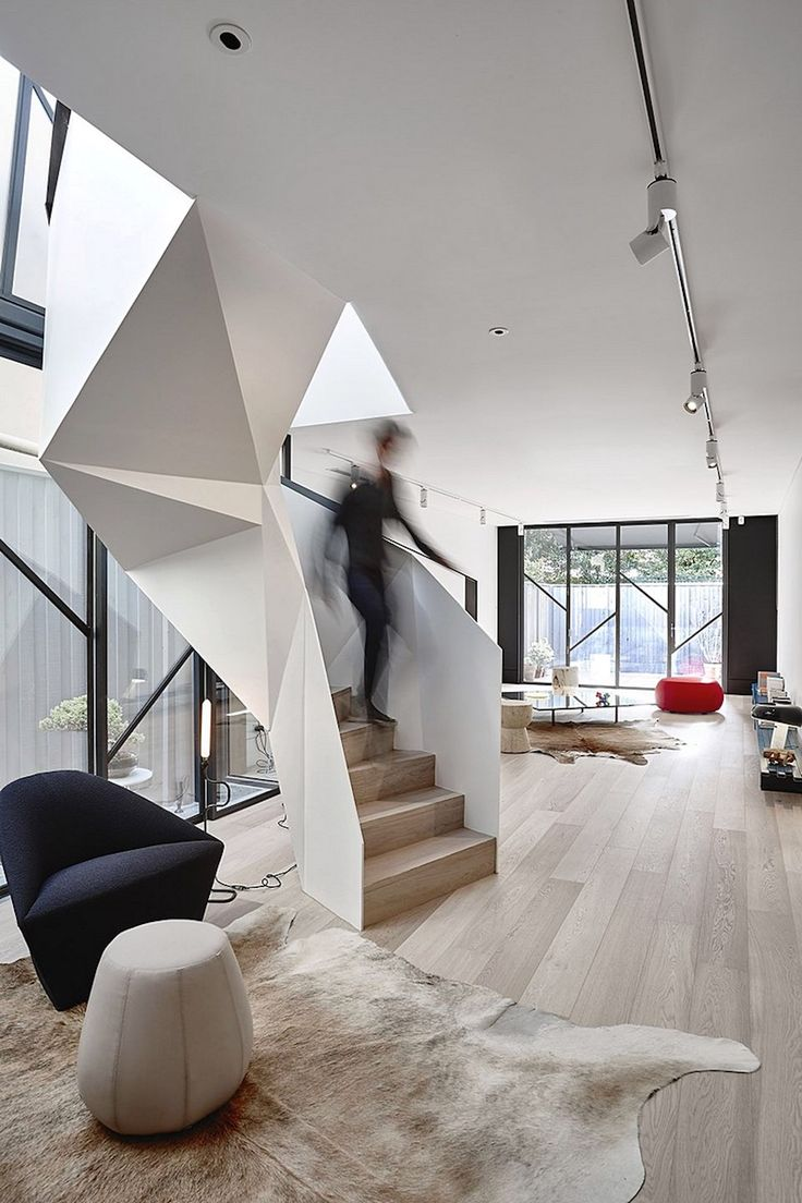Adrian Amore Architects Create Space In The Inner City With The Clever  Expansion Of This Fitzroy Terrace Home, Including One Standout Spiral  Staircase.