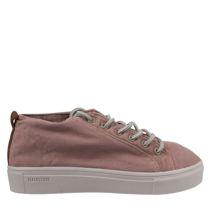 hippe Blackstone Ll97 roze sneaker canvas met veter