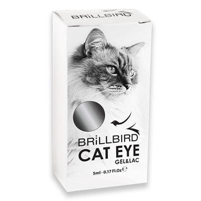 Cat Eye Gél Lakk - Macskaszem effekt - Silver 5ml