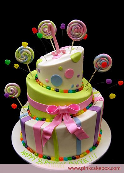 Image detail for -1st birthday, candy, colorful, rainbow cake, themed cake - inspiring ...