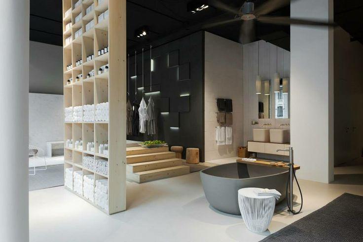 NEUTRA Flagship Store in milan - water_wellness_stone. #bathroom #spa #design