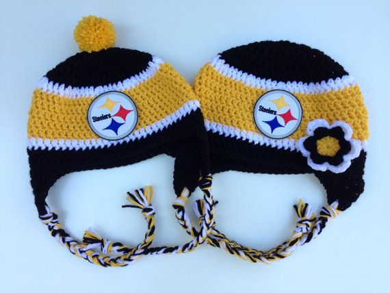 ... clearance pittsburgh steelers youth cuffed knit hat w pom pittsburgh steelers  crochet hat by craftyiamknot on d50ac4088
