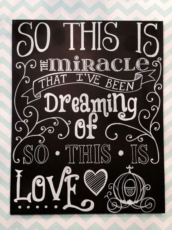 So This is Love from Cinderella inspired lyric by mylittlemidge, $40.00