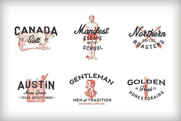 Vintage Americana Logos by RetroSupply Co. on @creativemarket