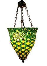 Hanging Lamp -Emerald Green Hanging Lamp - Stained Glass hanging Lamp By Tiffany