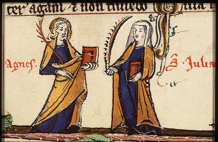 Ste Agnès et Ste Julienne, 76G17125 Bibl.Royale Pays-Bas