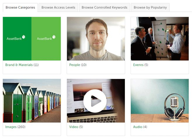 Users are able to upload a whole folder at once and organise assets into relevant categories