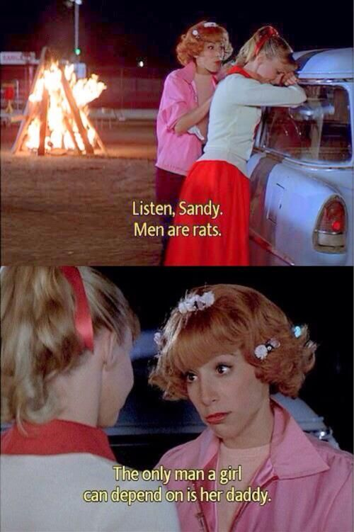 Image result for sandy character quotes grease