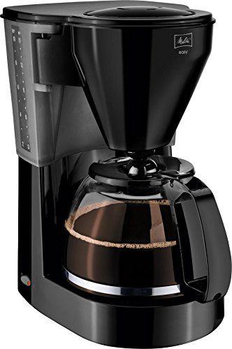 Melitta 1010-02, Easy, Cafetière filtre, avec verseuse en verre, système anti-goutte, support filtre amovible, noir,
