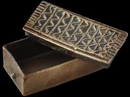 Asante/Ashanti Gold Dust Box from Ghana (18th/19th century): Artifact
