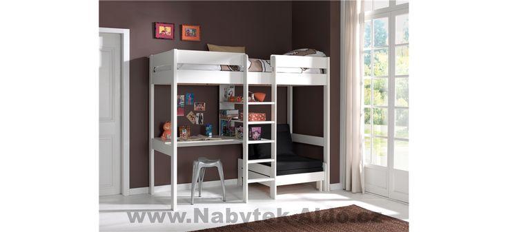 Dětská patrová postel z masivu rozkládací PIOLZB14