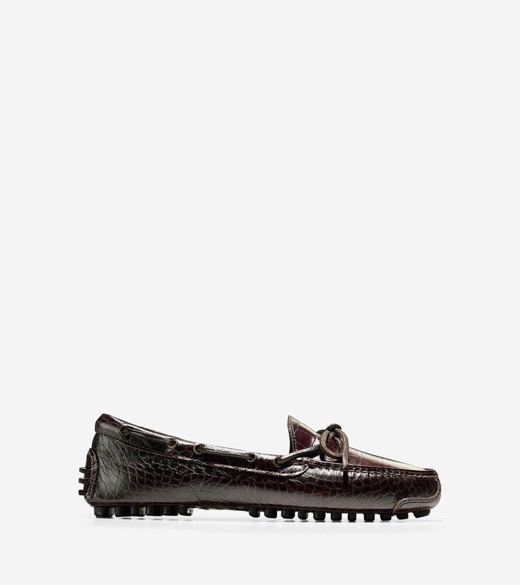 Shop men's Gunnison Drivers in brown crocodile and see our entire  collection of driving shoes and loafers on sale at Cole Haan.