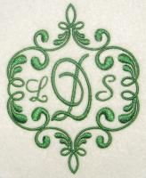 A beautiful border adds to an even prettier monogram