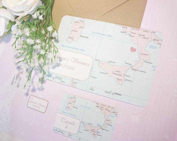 Partecipazione Italy per nozze a tema viaggio