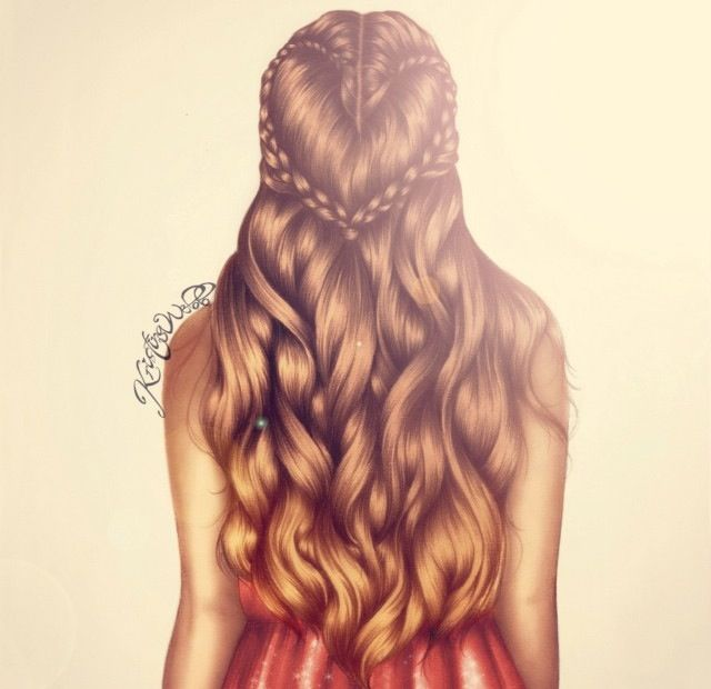 Cool hair drawing