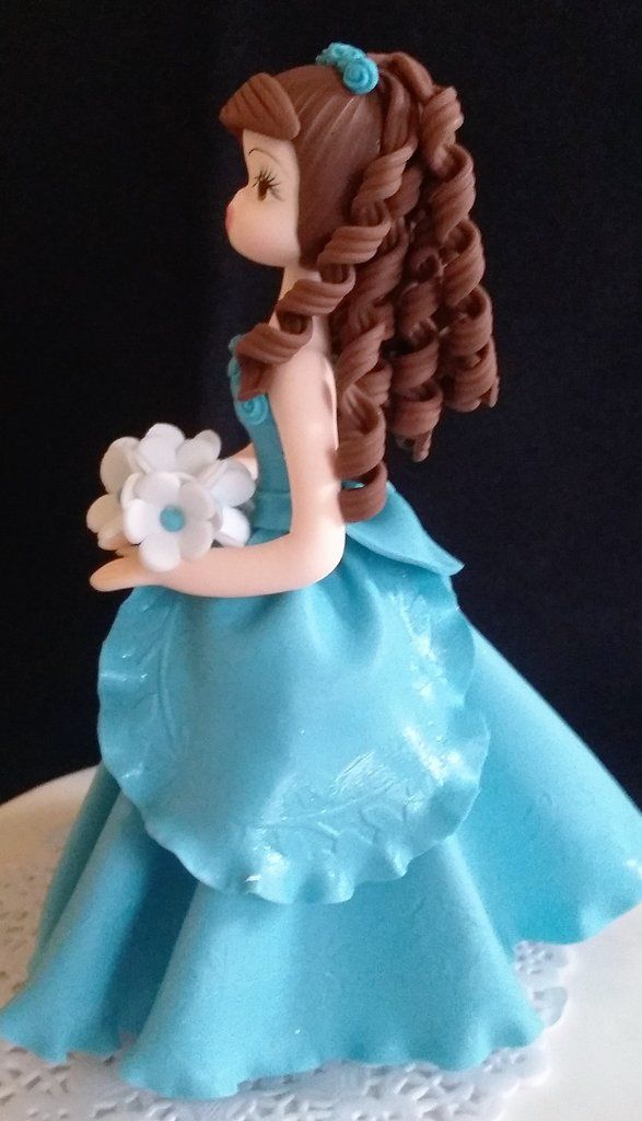 Beautiful Teal Blue Quinceañera Cake topper, This Cake Topper that will add an unique look to your Event great for Birthday, Bridal Shower, Sweet Sixteen and Quinceañeras This Cake topper is all Handm
