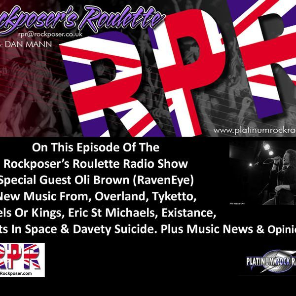 """Check out """"Dan Mann - Rockposer's Roulette Radio Show with Oli Brown"""" by Platinum Rock Radio on Mixcloud"""