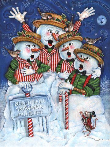 Snowman Quartet by Gloria West More