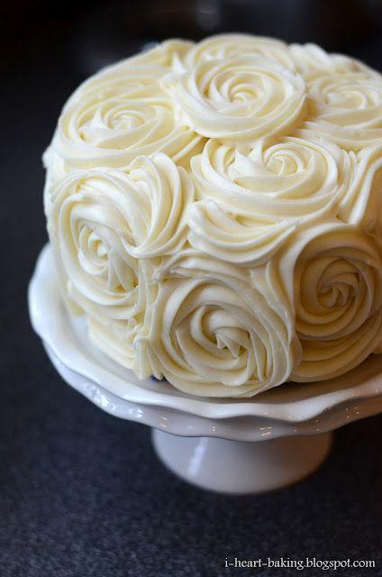 rose: Sweet, Buttercream Roses, Wedding Ideas, Wedding Cakes, Cream Cheese Buttercream, Cheesecake Middle, Cream Cheeses, Dessert, Red Velvet Cakes