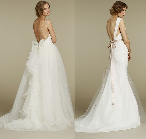 Modern Brides – Top Dramatic and Intricate Back Designs of Wedding Dresses 2013