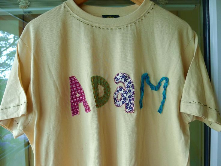 gift for a friend - an inexpensive t-shirt with appliqued letters