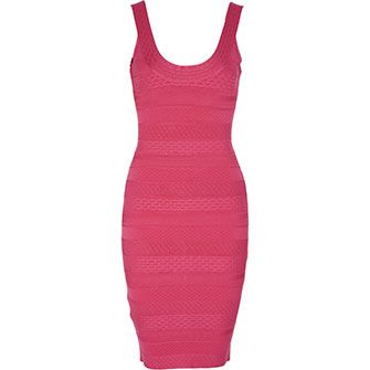 Pink Aztec Bandage Dress