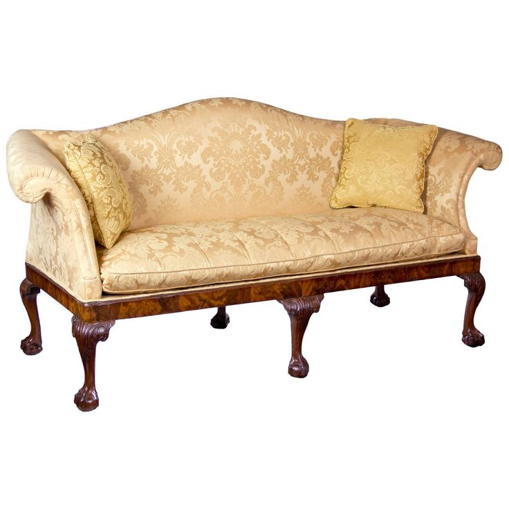 Chippendale Camelback Sofa with Claw and Ball Feet, English or Irish, circa 1770