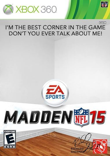 NFL memes: Richard Sherman's Madden cover. I laughed harder than I should've at this