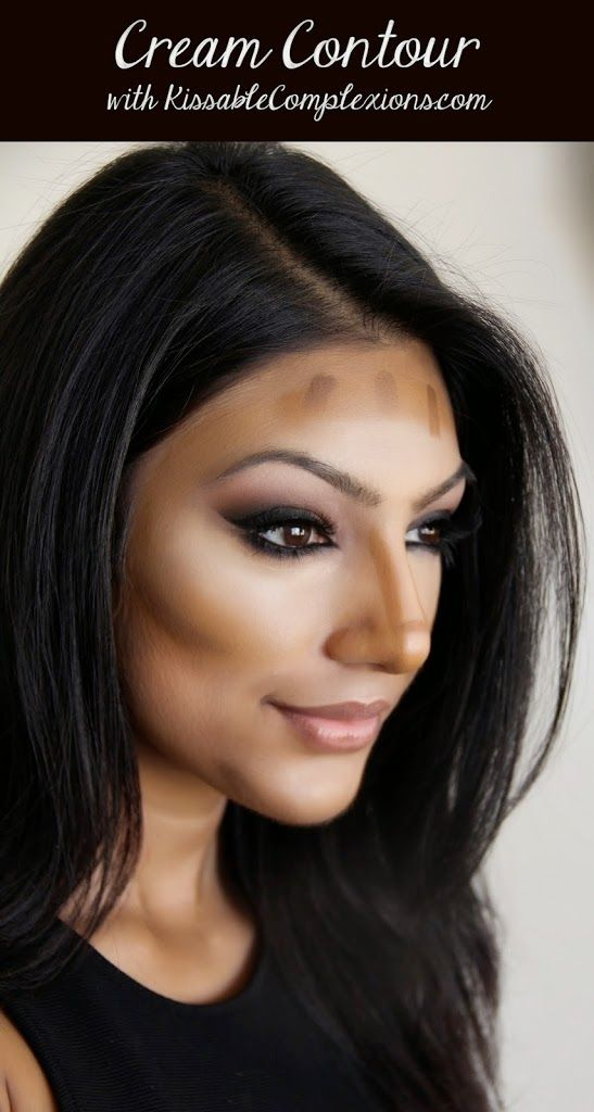 Cream Contour tips -- She also gives drugstore alternatives, which I love!