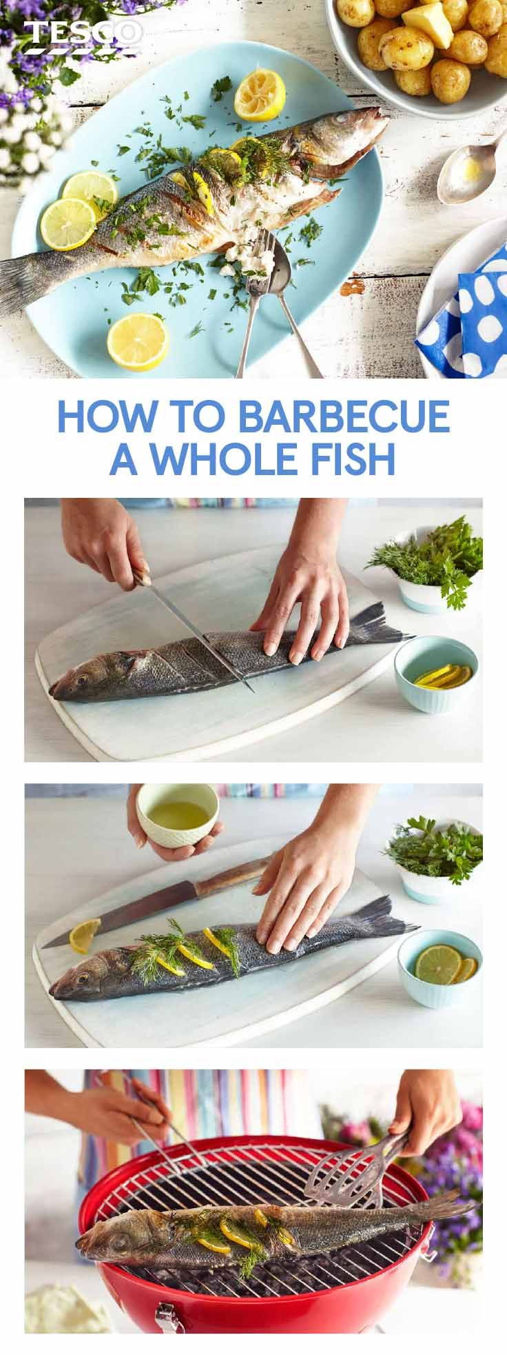 180 best bbq ideas recipes tesco images on pinterest for How to cook a whole fish