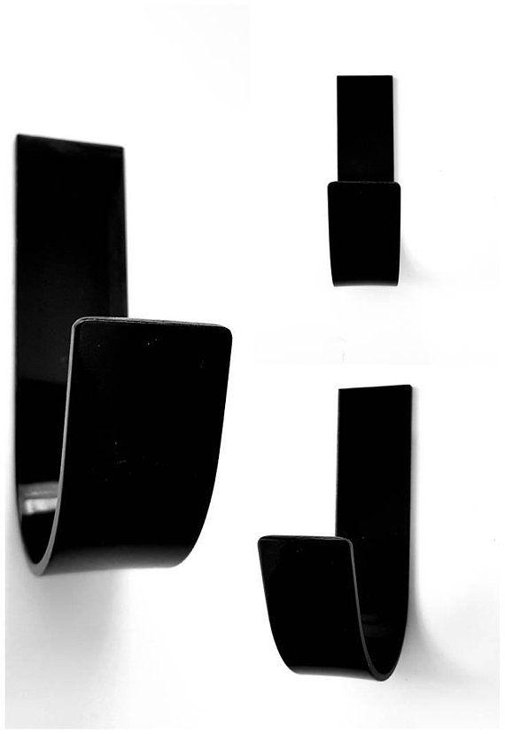 Luxury Modern Glossy Black Coat Hook Coat Hooks Door Hook
