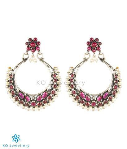 1cc27763f The Rasika Silver Chand Bali Earrings (Oxidised) | Silver /German ...