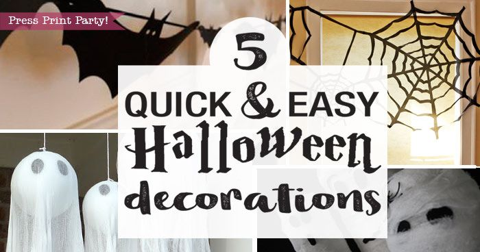 5 Quick & Easy Halloween Decorations – Press Print Party!